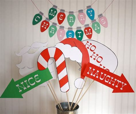 printable christmas party photo booth props christmas photobooth props ho ho ho pinterest photo