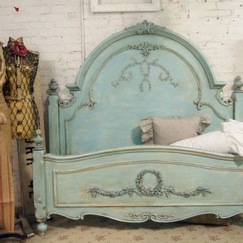 painted cottage chic shabby aqua queen from paintedcottages on