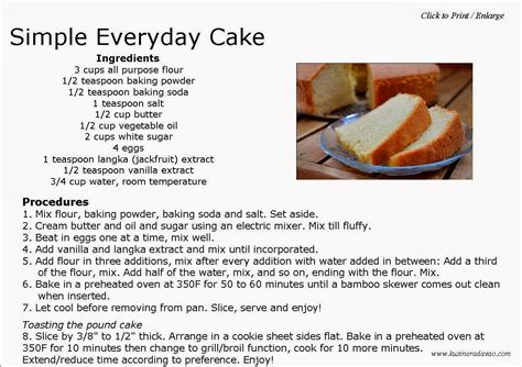 cake recipes easy simple everyday cake kusinera davao