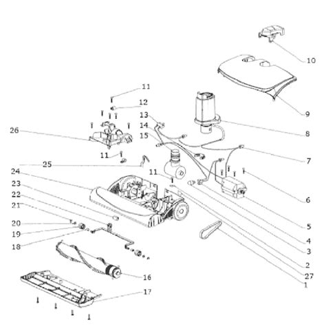 electrolux vacuum parts diagram electrolux el7020a parts list and diagram