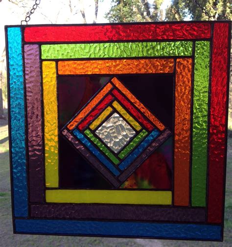 stained glass panels stained glass panel contemporary colorful geometric