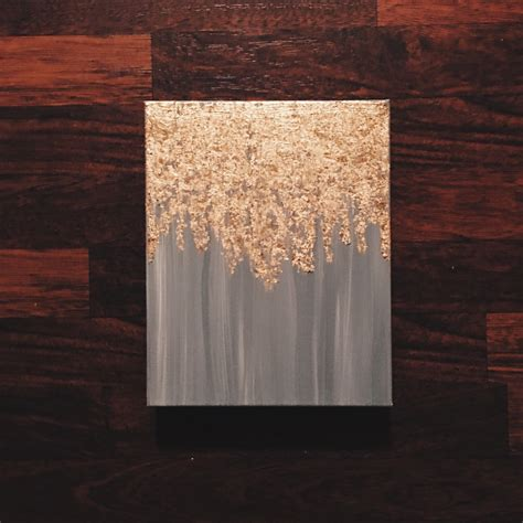 Gold Leafing Paint As Seen In Hgtv Magazine Gold Leaf Painting By Paintandpattern
