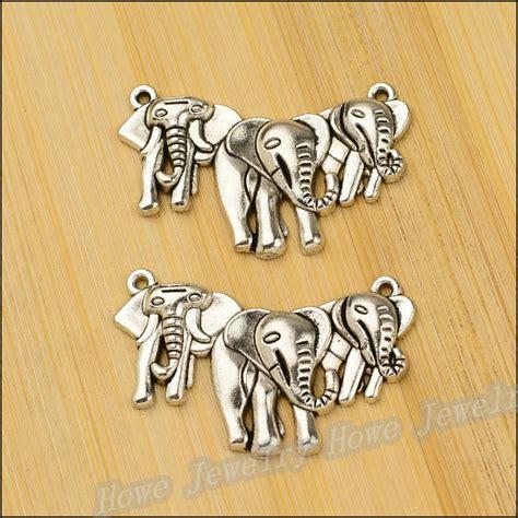 Handmade Fashion Accessories - wholesale70pcs tibetan silver elephant charm necklace