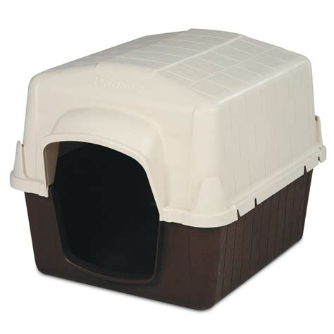 plastic dog house shop aspen pet 2 5 ft x 2 41 ft x 3 16 ft plastic dog house at lowes com