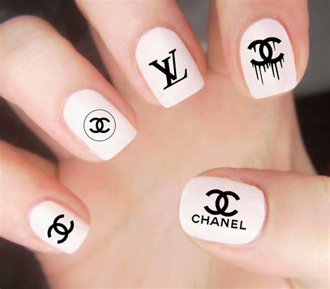 Stiker Kuku Nail Stiker 9 chanel nail decals chanel logo decals chanel nails nail