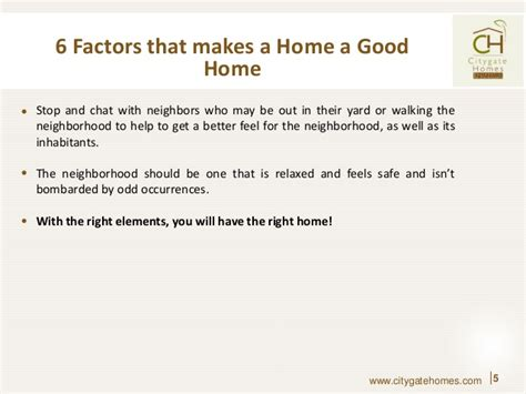 What Makes A Good Home | 6 factors that make a home a good home