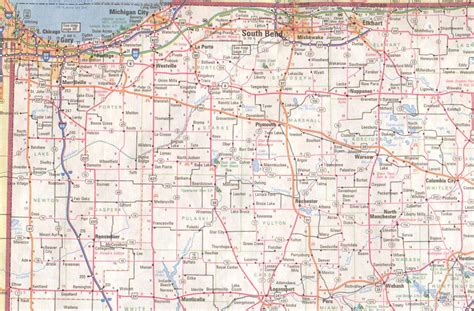 indiana road map northern indiana road map indiana map