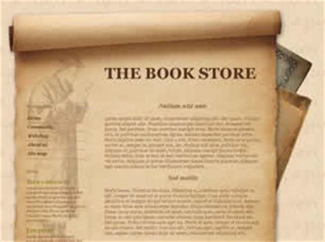 css templates for books the book store free website template free css templates