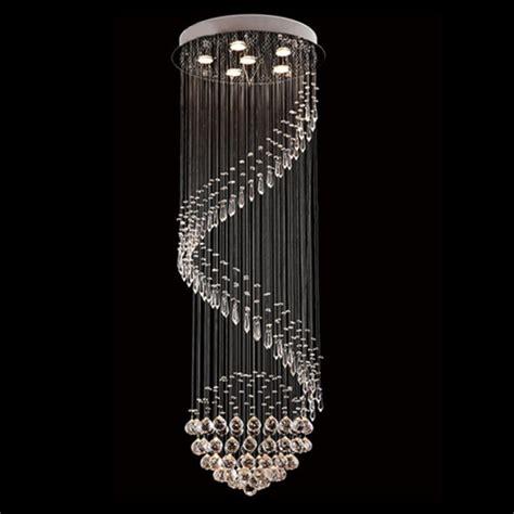 Modern Chandelier Drop byb 174 modern chandelier drop lighting spiral wave fixture pendant ceiling l