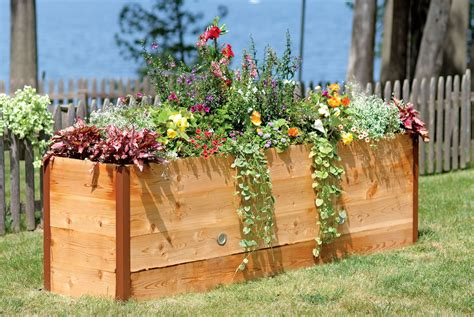 elevated cedar raised garden beds the green head