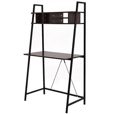 Leaning Shelf With Desk by Tangkula Ladder Shelf With Desk Leaning Bookcases Home Office Furniture Buy In Uae