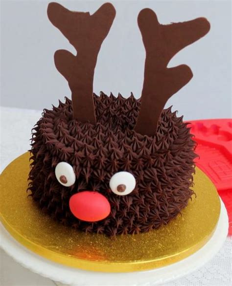 reindeer theme chocolate christmas cake jpg