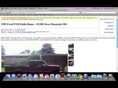Craigslist Garage Sales Peninsula by Craigslist Used Cars For Sale By Owner In Metro Detroit Mi