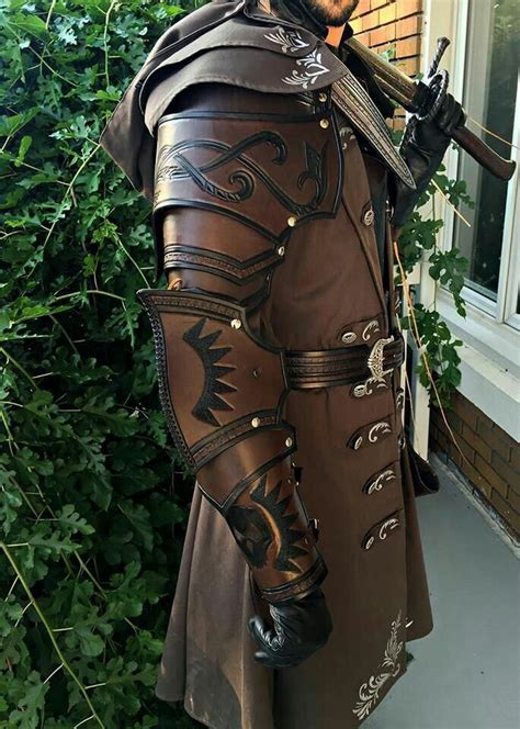 beautiful leather work armor clothing leather armor