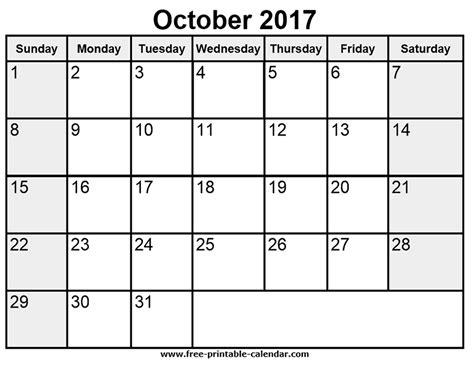 printable calendar month of october 2017 printable october 2017 calendar free printable 2017