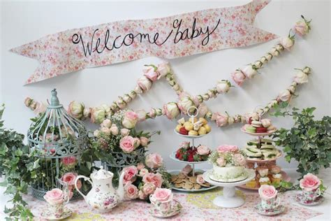 Rose Themed Baby Shower | diy rose tea party themed baby shower hgtv