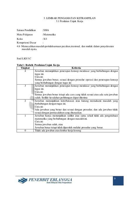 Konsep Penerapan Kimia 1 Smama Kelas X Peminatan Kur 2013 rpp matematika peminatan sma x bab 4