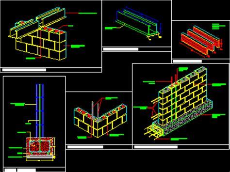 details wall  blocks dwg detail  autocad designs cad