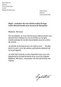 Mobile De Lettre Lettre Resiliation Telephone Comment Ecrire Une Lettre De R 233 Siliation De Contrat Jaoloron