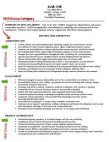 Skills Resume Exle by Resume Skill Writing