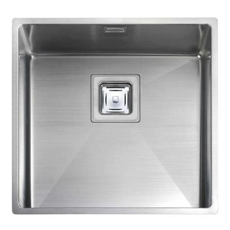 Stainless Steel Kitchen Sinks Uk Rangemaster Atlantic Kube Kub40 Stainless Steel Sink Kitchen Sinks Taps