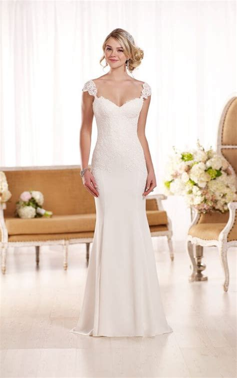 Wedding Dresses Cap Sleeves by Lace Cap Sleeve Wedding Dress Essense Of Australia