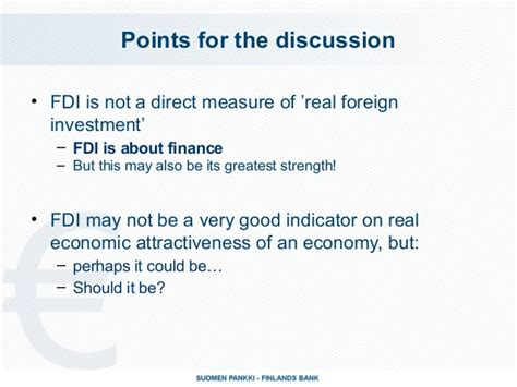 how well fdi measures real economic attractiveness of an