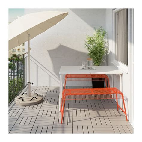 ikea vasteron bench v 196 dd 214 v 196 ster 214 n table 2 benches outdoor white orange ikea