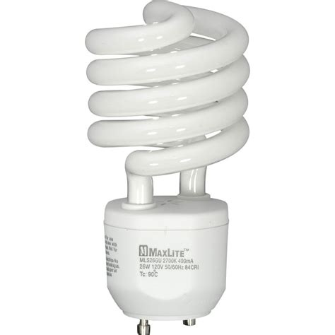 Cfl Light Fixture Shop Maxlite 100 W Equivalent Soft White Spiral Cfl Light Fixture Light Bulb At Lowes