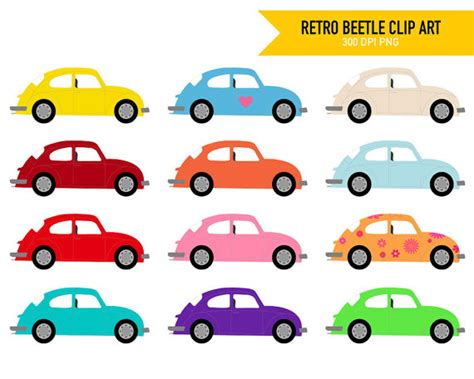 volkswagen bug clip art items similar to retro vw beetle clip art volkswagen