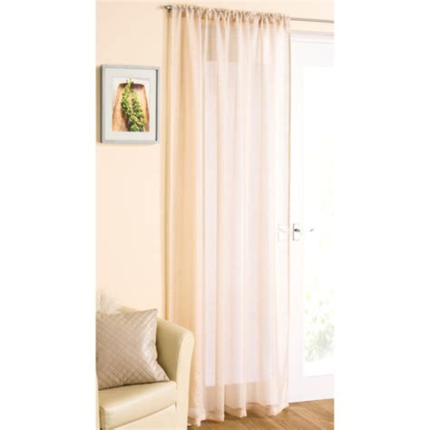 cream panel curtains cream glitter voile curtain panel tonys textiles