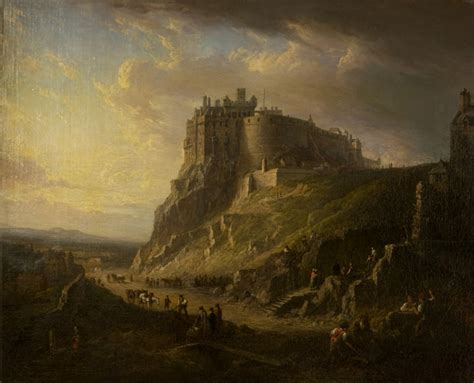 Landscape Artists Edinburgh View Of Edinburgh Castle Nasmyth National