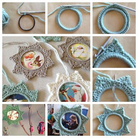 crochet frame pattern free wonderful diy crochet star photo frame