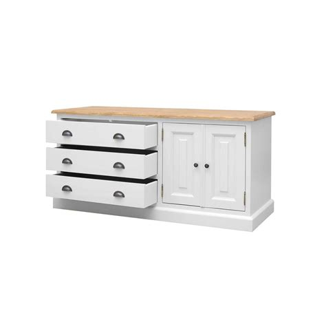 Low Wide Chest Of Drawers White by Harrogate White Painted Pine Furniture Low Chest Of