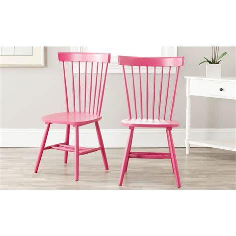 Safavieh Riley Pink Wood Dining Chair Set Of 2 Amh8500d Pink Dining Chair