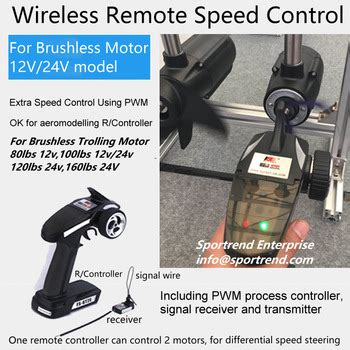 electric trolling motor remote wireless remote speed controlled electric outboard