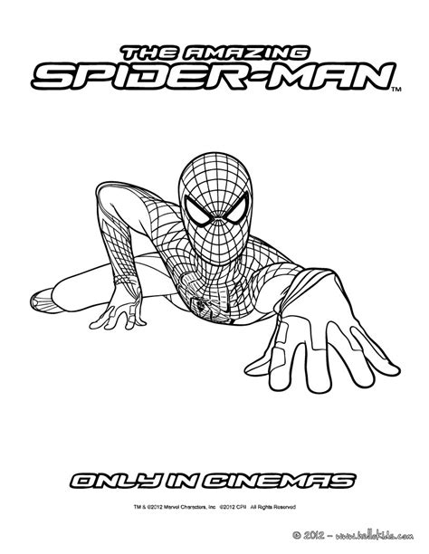 the amazing spidey climbing coloring pages hellokids com
