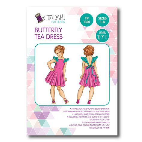 pattern sewing online tadah sewing pattern butterfly tea dress sewing
