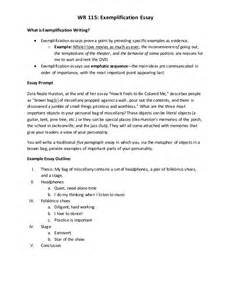 Essay Writing Activities by Exemplification Essay Prompt