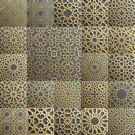islamic web pattern islamic pattern set of 22 ornaments seamless arabic