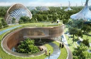Eco Friendly Architecture Concept Ideas Vincent Callebaut Fills Flavours Orchard With Sculptural Villas
