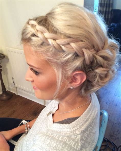 Wedding Hair Up With Plaits wedding hair priory cottages bridal updo plait plaits