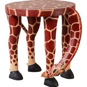 grazing giraffe stool ten thousand villages canada