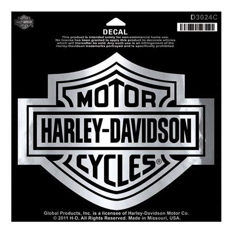 Harley Davidson Shield by Harley Davidson Bar Shield Chrome Large Decal Large