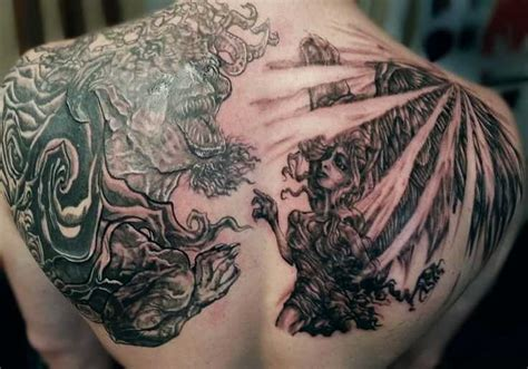 15 amazing good vs evil tattoos