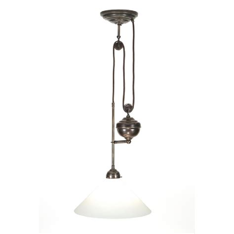 Classic Pendant Light Traditional Rise And Fall Ceiling Light In Aged Brass
