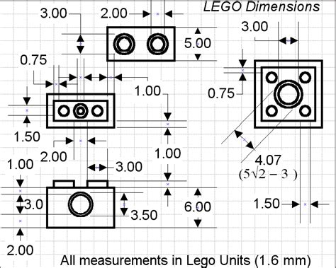 size legos information what are the dimensions of a lego