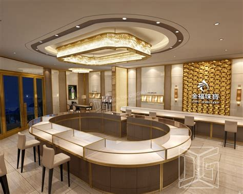 Top Jewelry Stores by Je87 Luxury Golden Jewelry Store Interior Design Guangzhou