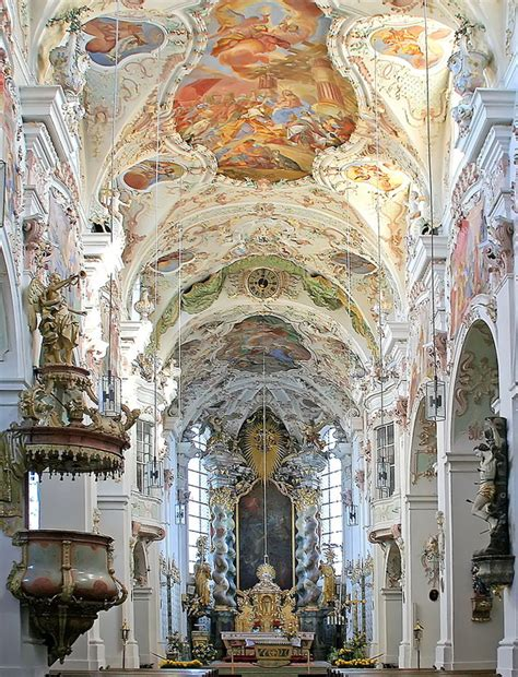 baroque architecture baroque architecture inside reichenbach abbey in bavaria germany wanderlust pic