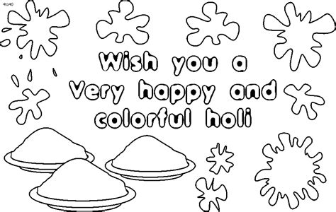 Holi Coloring Pages holi coloring pages coloring home